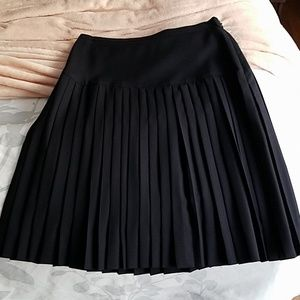 J. Crew drop waist pleated skirt Super 120s wool